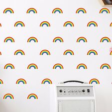 Mini Rainbow Wall Stickers Decal Stickaround Girls Laptop Window Nursery Kids