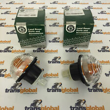 Land Rover Defender Clear Indicator Lamp Light Unit x2 - Bearmach - XBD100670