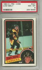 1984-85 O-Pee-Chee Cam Neely #327 Rookie Card RC      NM-Mint           PSA 8