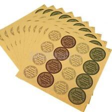 480Pcs Vintage Kraft Stickers Labels Handmade Craft DIY Baked Food Cookies