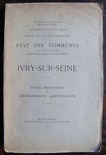 ETAT DES COMMUNES A LA FIN DU XIX ème siècle, IVRY SUR SEINE, 1904