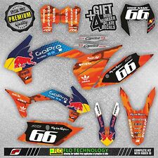 KTM EXC XCW XCFW 2014 / 2015 / 2016 MX DECALS STICKERS MOTOCROSS GRAPHICS KIT