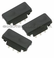 PORSCHE 924 944 POWER WINDOW TIP SWITCH BLACK 477 959 622 01C 477959622 SET 3