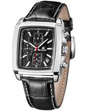 Quartz Chronograph MEGIR Men's Business Casual Watch Leather Wristwatches