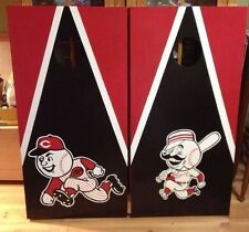 Cincinnati Reds Character  Custom Made  Cornhole boards and Free Bags