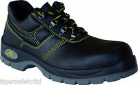 Delta Plus Panoply Jet 2 S1P Black Leather Mens Safety Toe Cap Shoes Work Shoes