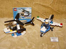 LEGO Sets: Town: City: Police: 30014-1 Police Helicopter & 30018-1 Police Plane
