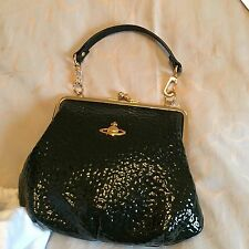 Authentic Vivienne Westwood Small Bag Dark Green And Gold Hardware