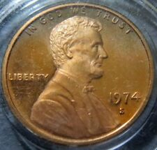 """*Uncirculated 1974-S  LINCOLN """"PROOF"""" CENT, Brilliant San Francisco Mint Coin #D"""