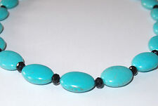 300+ct Howlite disk necklace, stainless steel fittings, Size 18, c. 62g.