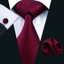 C-704 New Style Men's 100% Silk Neckties Tie+Hanky+Cufflinks Sets Free Shipping