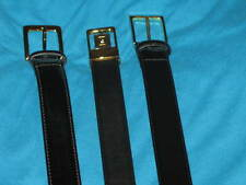 Lot 3 Leather Belts 38 40 Black Smooth 40/100 7