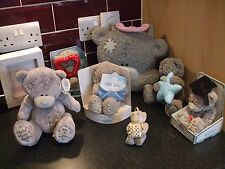 me to you teddy bear bundle  8 items money box storage case miss you