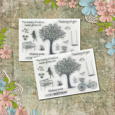 1x Nature Silicone Rubber Clear Transparent Stamp Set Scrapbooking Diary Decor