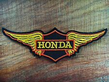 HONDA Wing Motorcycles Rider Biker Patch Iron on Embroidered Jacket Logo