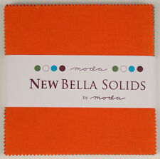 "Moda FABRIC Charm Pack ~ BELLA SOLIDS ~ MULTI-COLOR ~ (9900PPN4)  40 - 5"" sq"