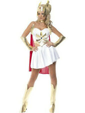 She-Ra Costume with Skirt, Headpiece, Cape, Boot Covers and Arm Cuffs