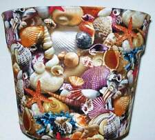 SEASHELLS THEMED PLANTER FLOWERPOT GIFT WRAP BASKET SUPPLIES CONTAINER