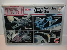 STAR WARS 1983 ROTJ SPACE VEHICLES MODEL SET MIB SEALED CONTENTS AIRFIX SNAPFIX