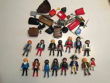 Lot of 15 Playmobile minifigures w lots of accessories Geobra figures S254
