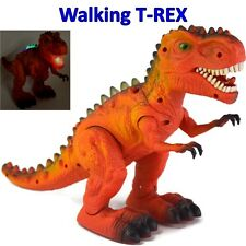 "Jurassic World 14"" Walking Dinosaur Real T-rex Figure  With Light Sound Dinasour"