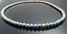 NON MAGNETIC RAINBOW HEMATITE NECKLACE 6mm beads