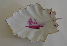 HOCHST HAND PAINTED PORCELAIN LEAF DISH MADE IN GERMANY
