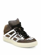 "Alejandro Ingelmo ""TRON""  Gold Silver Metallic Sparkle High Top 6.5"