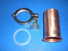 "Easy Moonshine Still Beer Keg 2"" Copper Pipe Column Adapter Tri Clamp alcohol"