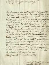 Lettera Autografa Gonfaloniere Giustizia Lelio Oretti Ducato Lucca Porcari 1814