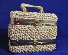 Vintage GLADYS GOLDEN MISTER GIGI MADE IN ITALY BOX PURSE WOVEN BEADED