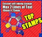 Custom Self inking Signature Stamps Self-Inking Personalised Stamps 10X27