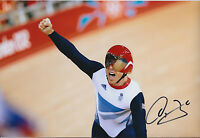 Sir Chris Hoy Signed 12x8 Autograph Photo AFTAL COA Team Sprint World Champion