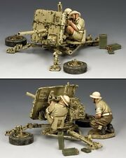 KING AND COUNTRY 8th Army 2-Pounder Anti Tank Gun WW2 EA107(BR)
