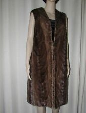 VINTAGE DARK BROWN  MINK LONG  VEST  FUR COAT OR LINING   SZ SMALL  BUST 38