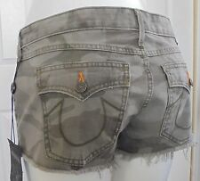True Religion Women's Joey Cut Off Shorts Camo Size 26