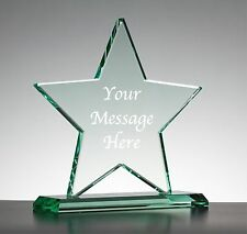 Personalised Engraved Clear Glass Star - Best In Show Award Trophy On Base
