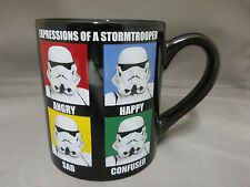 New Star Wars Expressions of a Storm Trooper Coffee Mug Cup Angry Happy Confused