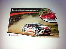 CP POSTCARD CARTOLINA CITROEN DS3 R3 GILBERT RALLY WRC PORTUGAL 2013