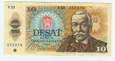 Tschechoslowakei CSSR Banknote 10 Kronen 1986