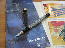 Waterman Man 200 Rhapsody Caviar 18kt Au medium nib Fountain pen Mint