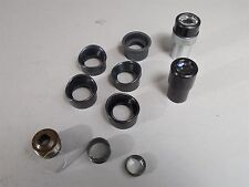 11pc Microscope Asst: Zeiss Kpl W 12.5x/AO 10x WF/5 Eyecups/4 Misc Lenses/Parts