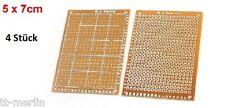 M02 - 4 Stück PCB - Universal - Leiterplatten - Platiene  5 x 7 cm