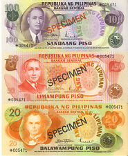 Philippines Lot of 6 Specimen Notes Collector's Series CHOICE UNC Piso