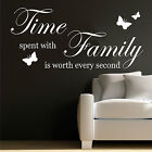 FAMILY WALL ART STICKER QUOTE DECAL WORDS SAYINGS TIME SPENT WITH FAMILY DIY
