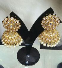 Indian Asian Bridal Jewellery Bollywood Party Ethnic Wear Polki Jhumka Earrings1