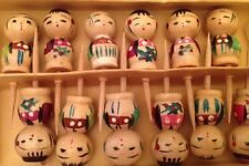 Vintage Japanese Kokeshi Doll Cake Toppers Birthday Candle Holders - Decorations