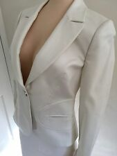 Versace White Pencil Skirt Suit Size 10