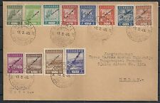 Rep.Indonesia 1946 ovpt set on cover cancelled Medan