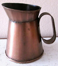 "CRAFT ANTIQUED BRONZE MINI PITCHER 3-1/2"" X 3"""